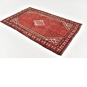 HandKnotted 4' 3 x 7' Hamedan Persian Rug