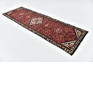 HandKnotted 3' 2 x 10' Hossainabad Persian Run...