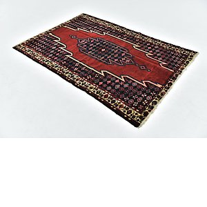 HandKnotted 4' 5 x 6' 5 Mazlaghan Persian Rug