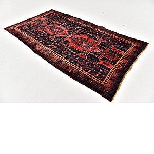 HandKnotted 4' 7 x 8' Zanjan Persian Rug
