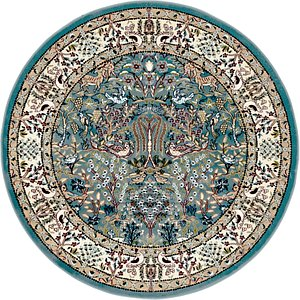 Link to 152cm x 152cm Nain Design Round Rug item page