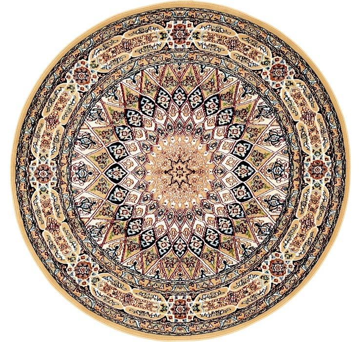 5' x 5' Nain Design Round Rug