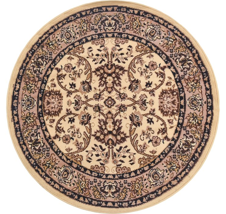 4' x 4' Kashan Design Round Rug
