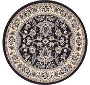 Link to 100cm x 100cm Kashan Design Round Rug