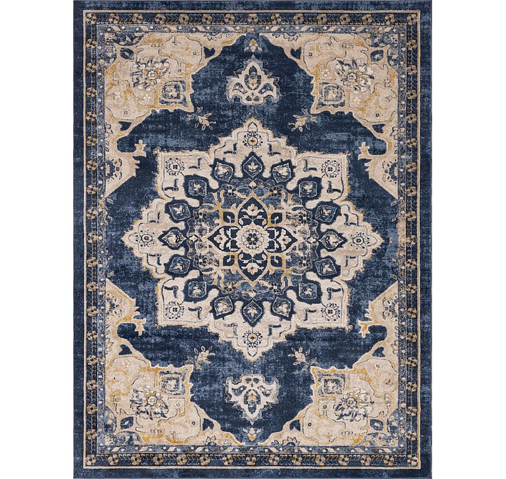 Navy Blue Eden Rug