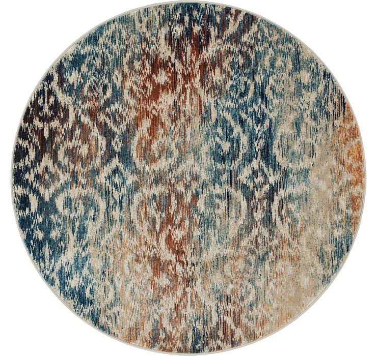 Blue Gossamer Round Rug