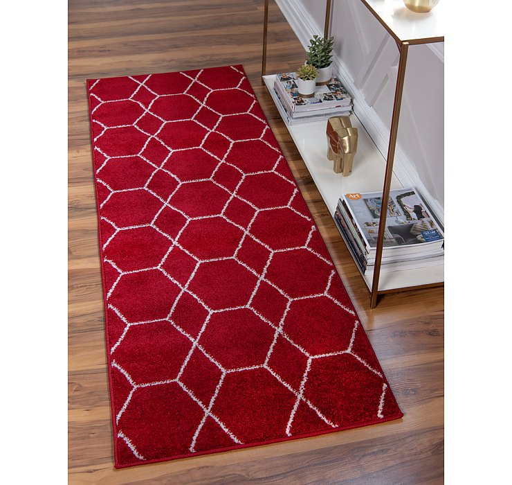 2' x 8' 8 Trellis Frieze Runner Rug