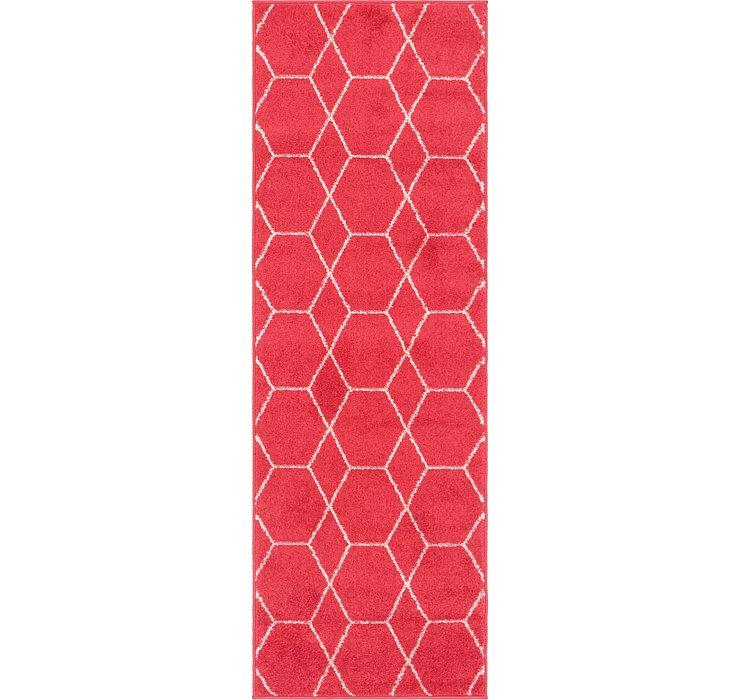 Pink Lattice Frieze Runner Rug
