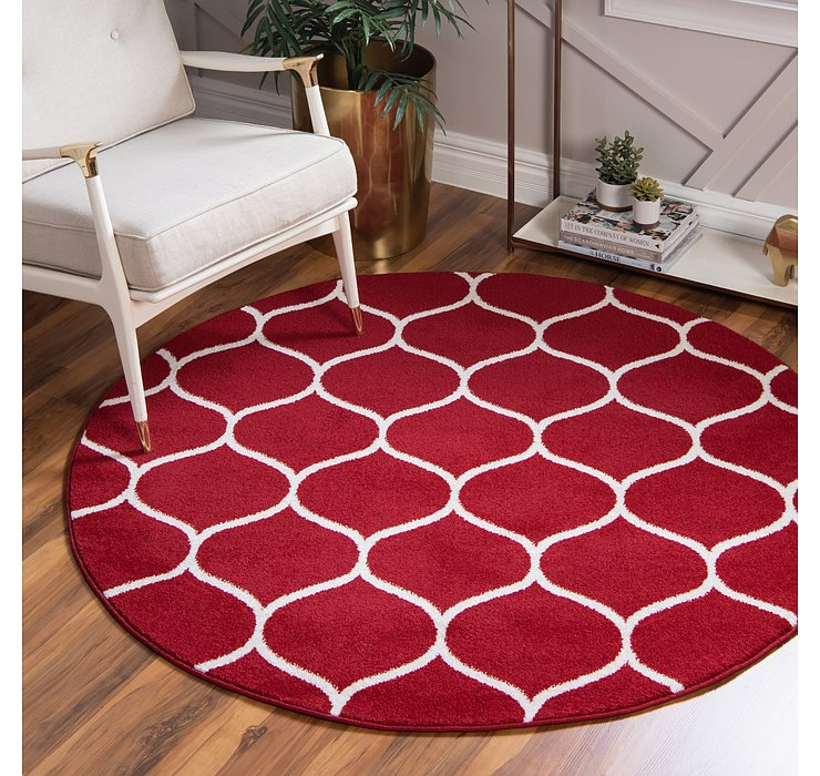 8' x 8' Trellis Frieze Round Rug