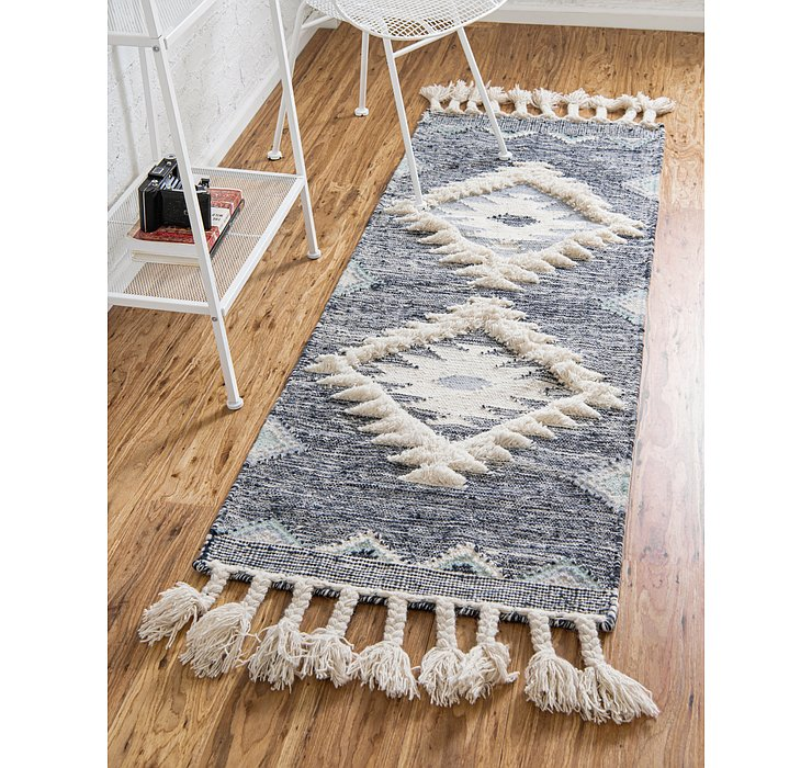 Dark Blue Arizona Runner Rug