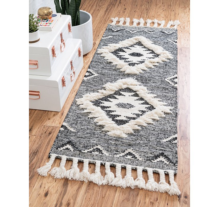 Charcoal Arizona Runner Rug