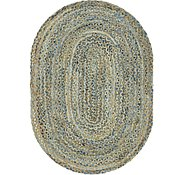 Link to 122cm x 183cm Braided Chindi Oval Rug