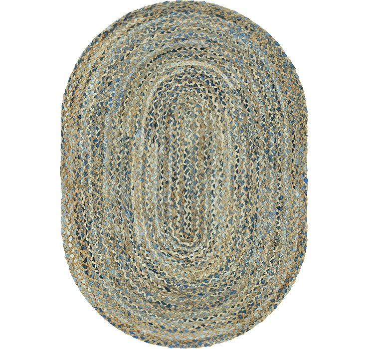 4' x 6' Braided Chindi Oval Rug