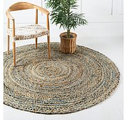 Link to 122cm x 122cm Braided Chindi Round Rug