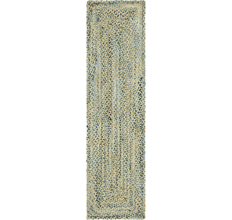 2' 2 x 8' Braided Chindi Runner Rug