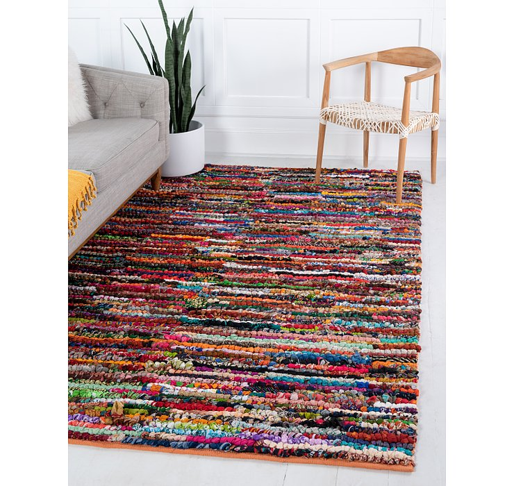 5' x 8' Braided Chindi Rug