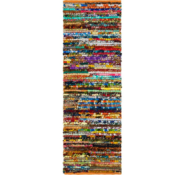 2' 2 x 6' Braided Chindi Runner Rug