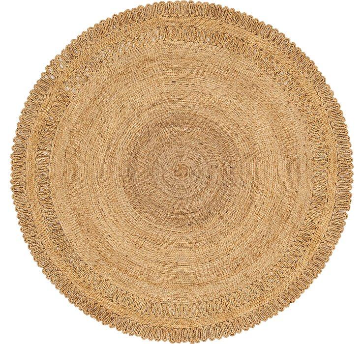 183cm x 183cm Braided Jute Round Rug