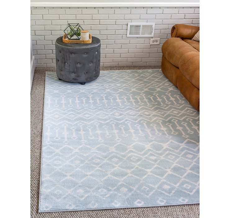 Light Blue Kasbah Trellis Rug