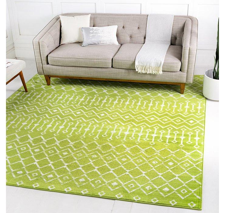 Green Kasbah Trellis Square Rug
