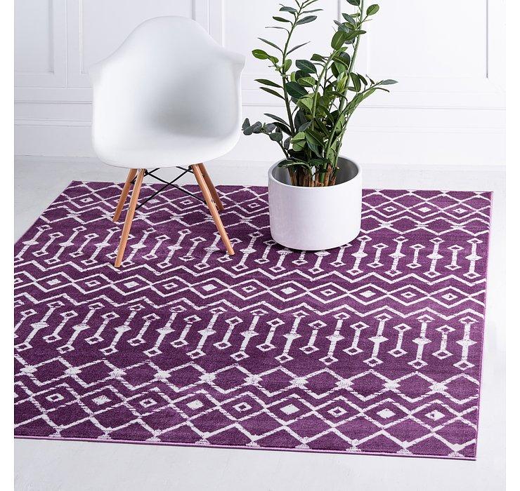 Violet Kasbah Trellis Square Rug