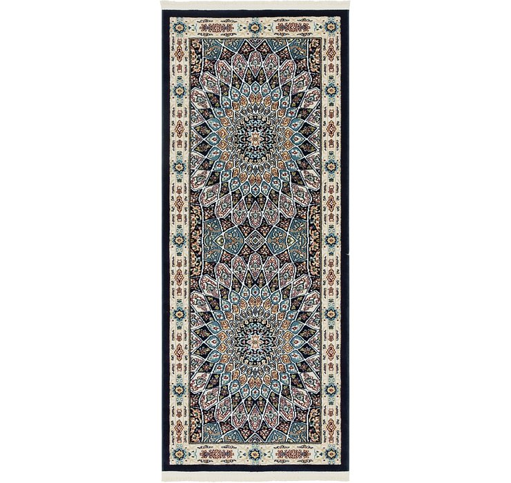 Navy Blue Rabia Runner Rug