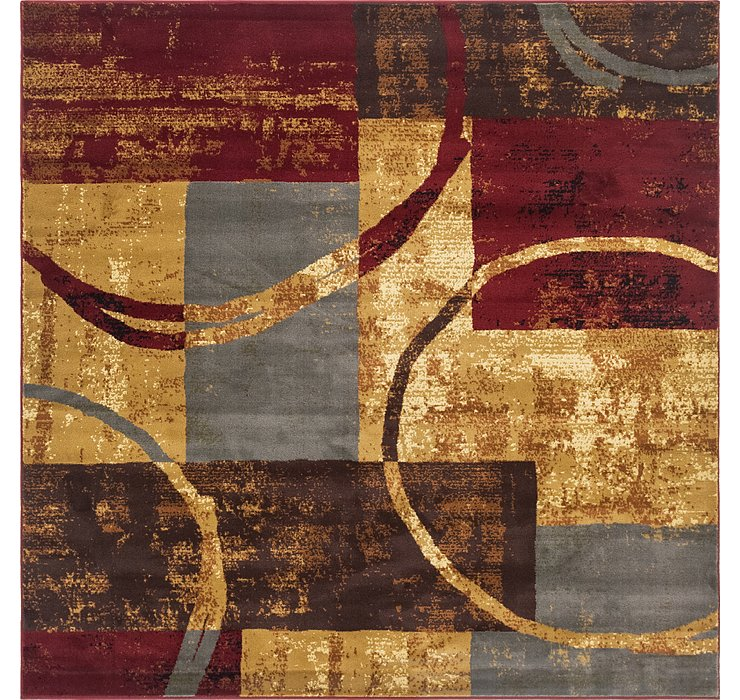 Multi Cafe Square Rug