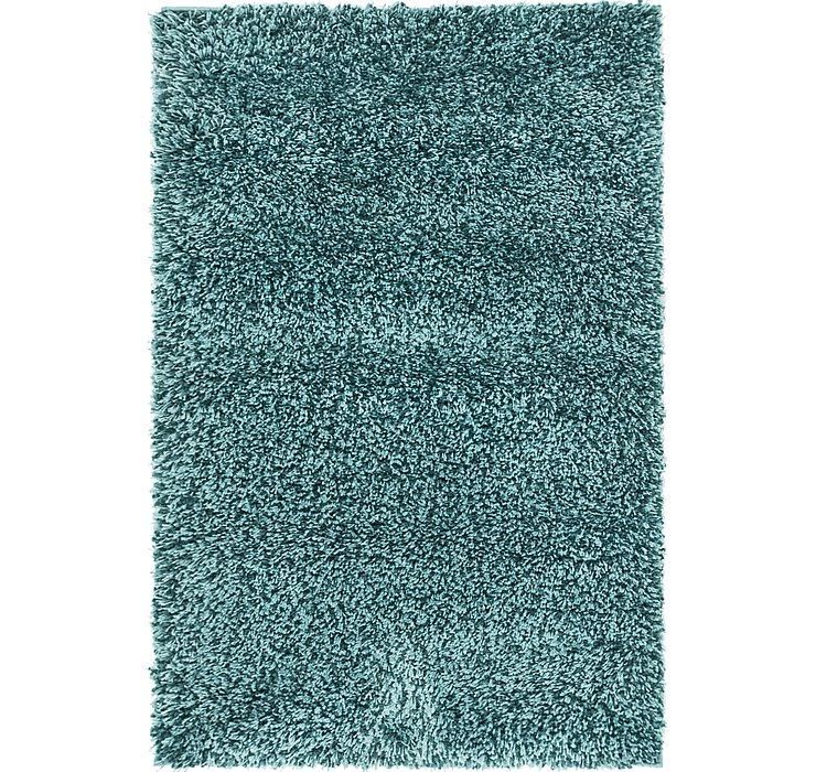 2' 8 x 4' Luxe Solid Shag Rug