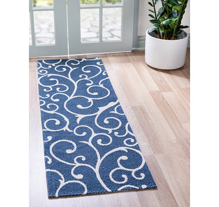 Navy Blue Georgia Runner Rug
