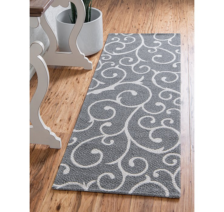 Dark Gray Georgia Runner Rug