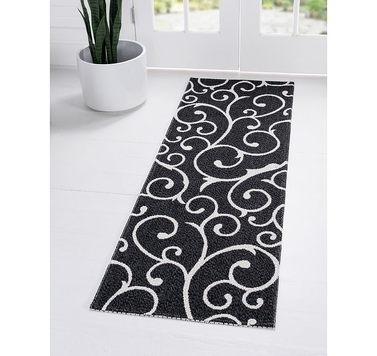 Black Georgia Runner Rug