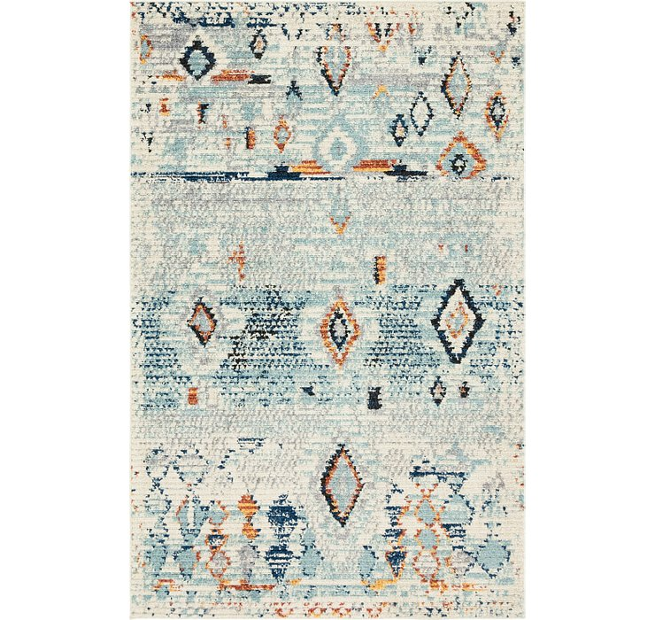 Light Blue Morocco Rug