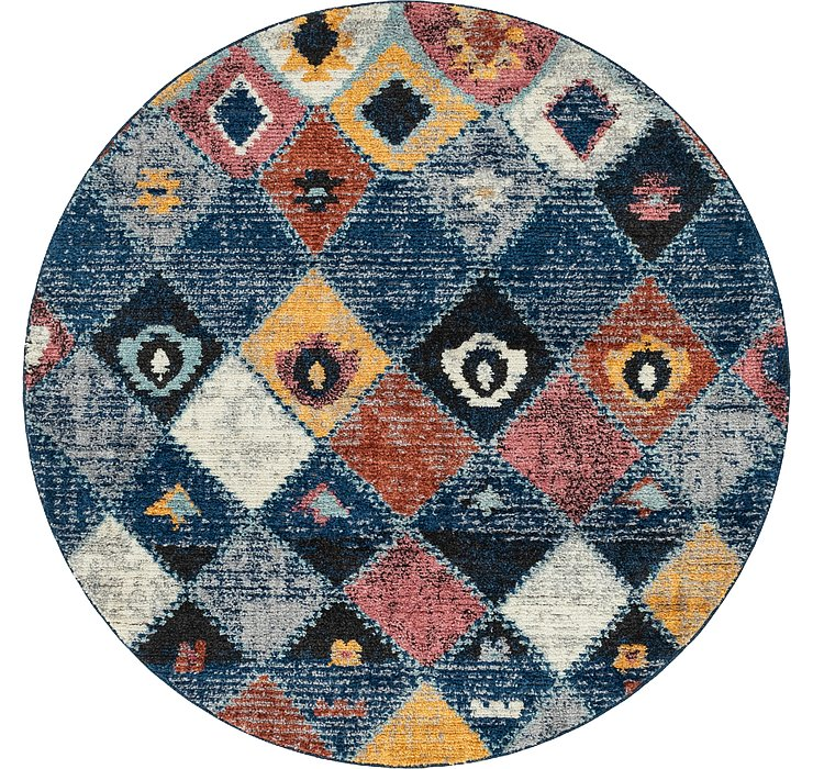 7' x 7' Morocco Round Rug