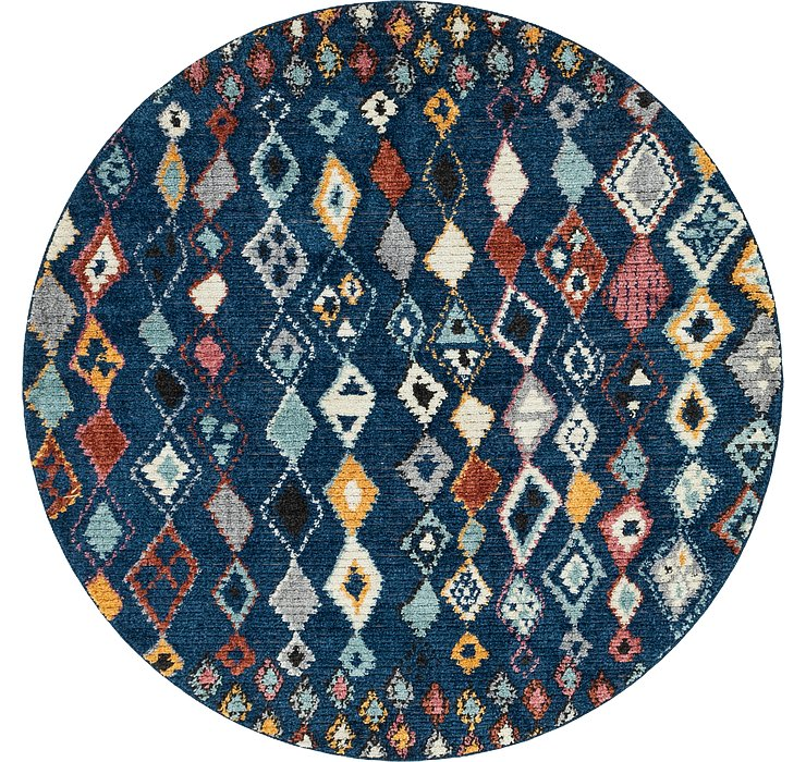 7' x 7' Morocco Round Rug