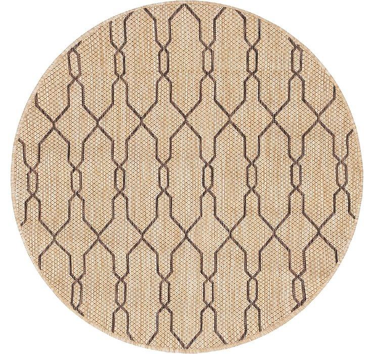 4' x 4' Outdoor Lattice Round Rug