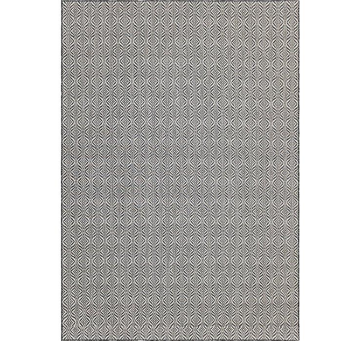 Charcoal Outdoor Lattice Rug