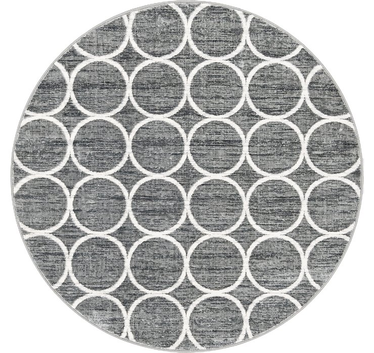 5' x 5' Lattice Trellis Round Rug