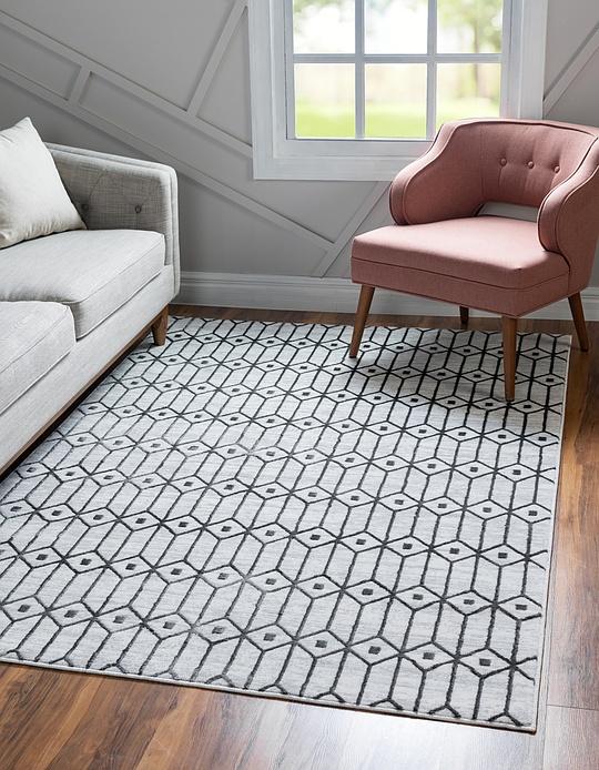 White  5' x 8' Lattice Trellis